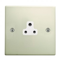 Hamilton Hartland Pearl Oyster 1 Gang 2A Unswitched Socket with White Insert