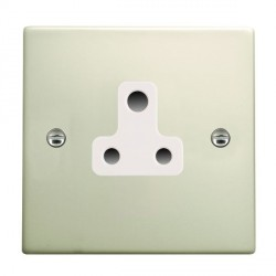 Hamilton Hartland Pearl Oyster 1 Gang 5A Unswitched Socket with White Insert
