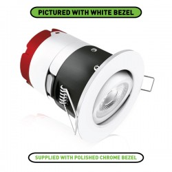 Aurora Lighting mPro 7W 3000K Dimmable Adjustable LED Downlight with Polished Chrome Bezel