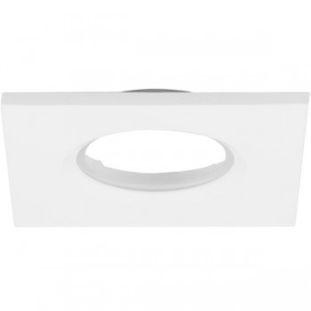Aurora Lighting Square Matt White IP65 Bezel for mPro LED Downlights