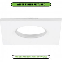 Aurora Lighting Square Polished Chrome IP65 Bezel for mPro LED Downlights