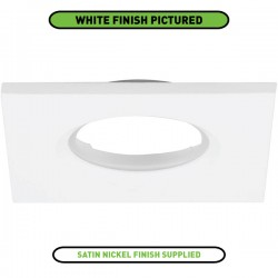 Aurora Lighting Square Satin Nickel IP65 Bezel for mPro LED Downlights