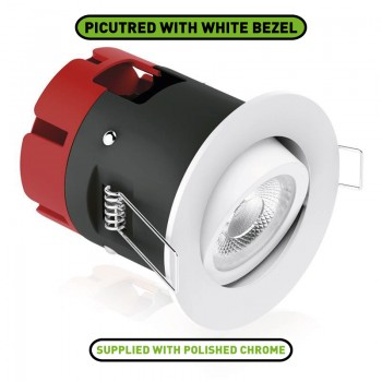 Aurora Lighting m7 6W 3000K Dimmable Adjustable LED Downlight with Polished Chrome Bezel
