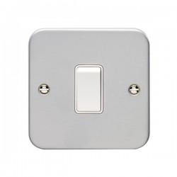 Eurolite Metal Clad 1 Gang 10A 2 Way Switch