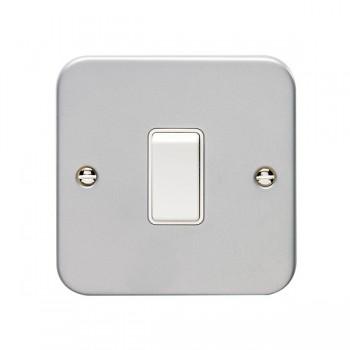 Eurolite Metal Clad 1 Gang 10A 2 Way Switch