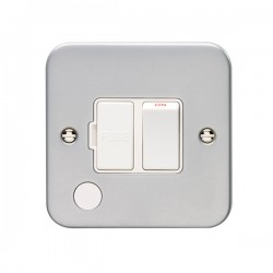 Eurolite Metal Clad 13A Switched Fuse Connection Unit with Flex Outlet