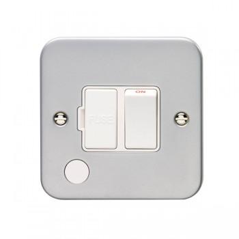 Eurolite Metal Clad 13A Switched Fuse Connection Unit with Flex Outlet