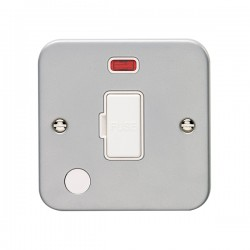 Eurolite Metal Clad 13A Fuse Connection Unit with Flex Outlet and Neon
