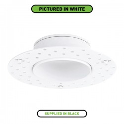 Aurora Lighting Black IP65 Trimless Bezel for m10 LED Downlights