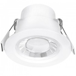 Aurora Lighting Spryte 8W Warm White Dimmable Fixed LED Downlight