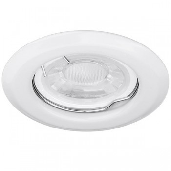 Enlite EDLM 50W Fixed GU10 White Pressed Steel Spring Clip Downlight