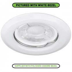 Enlite EDLM 50W Fixed GU10 Polished Chrome Pressed Steel Spring Clip Downlight