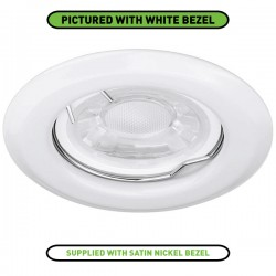 Enlite EDLM 50W Fixed GU10 Satin Nickel Pressed Steel Spring Clip Downlight