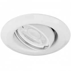 Enlite EDLM 50W Adjustable GU10 White Pressed Steel Spring Clip Downlight