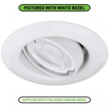 Enlite EDLM 50W Adjustable GU10 Polished Chrome Pressed Steel Spring Clip Downlight