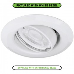 Enlite EDLM 50W Adjustable GU10 Satin Nickel Pressed Steel Spring Clip Downlight