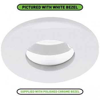 Enlite EDLM IP65 50W Fixed GU10 Polished Chrome Cast Aluminium Spring Clip Downlight
