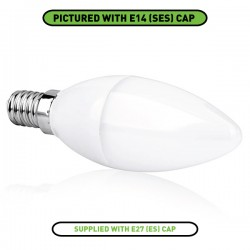 Aurora Lighting EDim 5W 2700K Dimmable E27 LED Candle Bulb