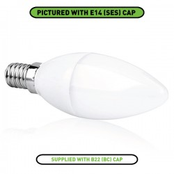 Aurora Lighting EDim 5W 2700K Dimmable B22 LED Candle Bulb
