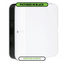 Aurora Lighting Utilite 20W 4000K Square Drum White LED Bulkhead with Emergency Backup