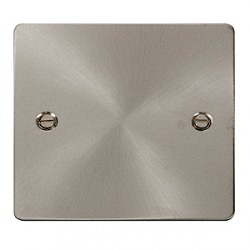 Click Define Brushed Steel Flat Plate Single Blank Plate