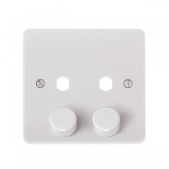 Click CMA146PL 2 Gang Dimmer Plate with Knobs