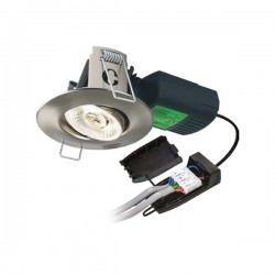 Collingwood Halers H4 Pro 700 T 2700K Dimmable Brushed Steel Adjustable LED Downlight - 38° Beam Angle