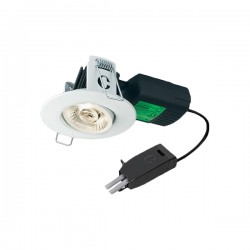 Collingwood Halers H4 Pro 700 T 2700K Dimmable Matt White Adjustable LED Downlight - 55° Beam Angle