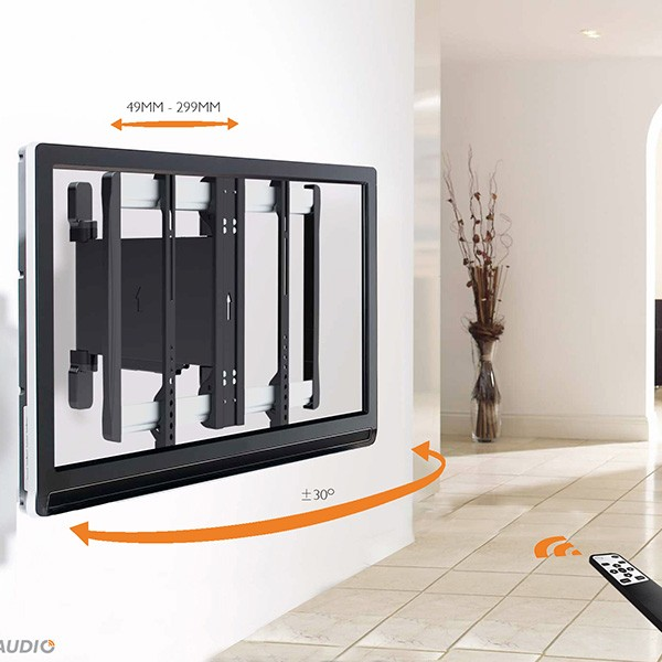Lithe Audio Remote Control Motorised Tv Wall Mount For 32 60in Tvs