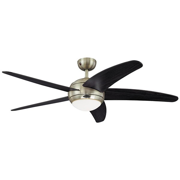 Westinghouse bendan 52 inch satin chrome ceiling fan with wengue westinghouse bendan 52 inch satin chrome ceiling fan with wengue blades mozeypictures Gallery