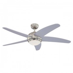 Westinghouse Bendan 52 Inch Satin Chrome Ceiling Fan with Silver Blades