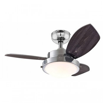 Westinghouse Wengue 30 Inch Chrome Ceiling Fan with Wengue and Beech Blades