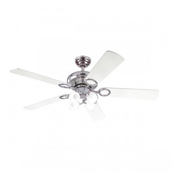 Westinghouse Helix Fusion 52 Inch Chrome Ceiling Fan with Black and White Blades