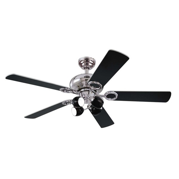Westinghouse helix fusion 52 inch chrome ceiling fan with black and westinghouse helix fusion 52 inch chrome ceiling fan with black and white blades mozeypictures Gallery