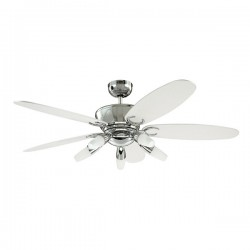 Westinghouse Arius 52 Inch Chrome Ceiling Fan with Black and White Blades