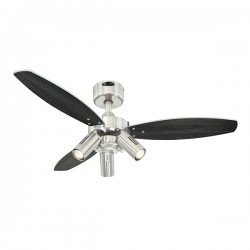 Westinghouse Jet Plus 42 Inch Brushed Nickel Ceiling Fan with Wengue and Silver Blades