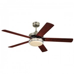 Westinghouse Hercules Supreme 52 Inch Dark Pewter Ceiling Fan with Dark Walnut and Applewood Blades