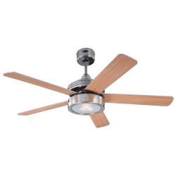 Westinghouse Hercules 52 Inch Brushed Nickel Ceiling Fan with Beech and Weathered Maple Blades