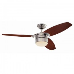Westinghouse Lavada 48 Inch Satin Chrome Ceiling Fan with Golden Maple and Weathered Maple Blades