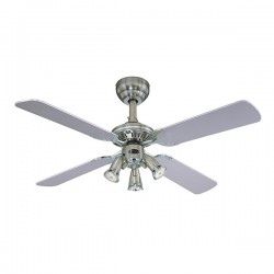 Westinghouse Princess Euro 42 Inch Dark Pewter Ceiling Fan with Silver and Graphite Blades