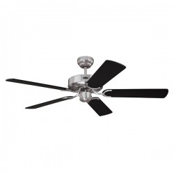Westinghouse Cyclone 52 Inch Brushed Steel Ceiling Fan with Black and Silver Striped Blades