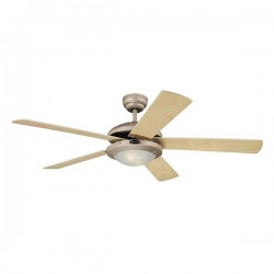 Westinghouse Comet 52 Inch Titanium Ceiling Fan with Light Maple and White Blades