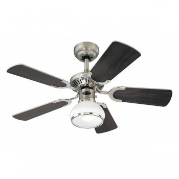 Westinghouse Princess Radiance II 36 Inch Dark Pewter Ceiling Fan with Wengue and White Blades