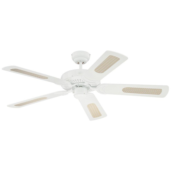 Westinghouse monarch 48 inch white ceiling fan with white and white westinghouse monarch 48 inch white ceiling fan with white and white cane blades aloadofball Gallery
