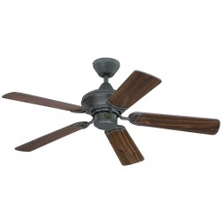 Westinghouse Nevada 42 Inch Ancient Iron Ceiling Fan with Walnut and Cherry Blades