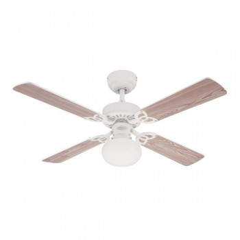 Westinghouse Vegas 42 Inch White Ceiling Fan with White and White Washed Pine Blades
