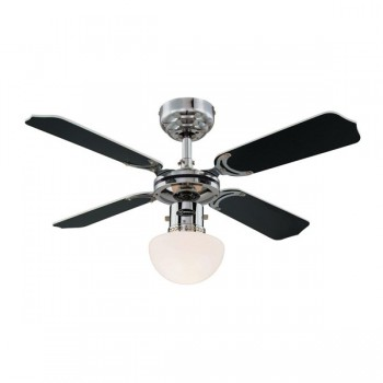 Westinghouse Portland Ambience 36 Inch Chrome Ceiling Fan with Black and White Blades
