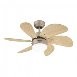 Westinghouse Turbo Swirl 30 Inch Titanium Ceiling Fan with Light Maple Blades