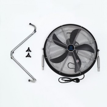 Westinghouse Yucon II Black and Silver Floor Fan