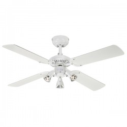 Westinghouse Princess Euro 42 Inch White Ceiling Fan with White and Beech Blades